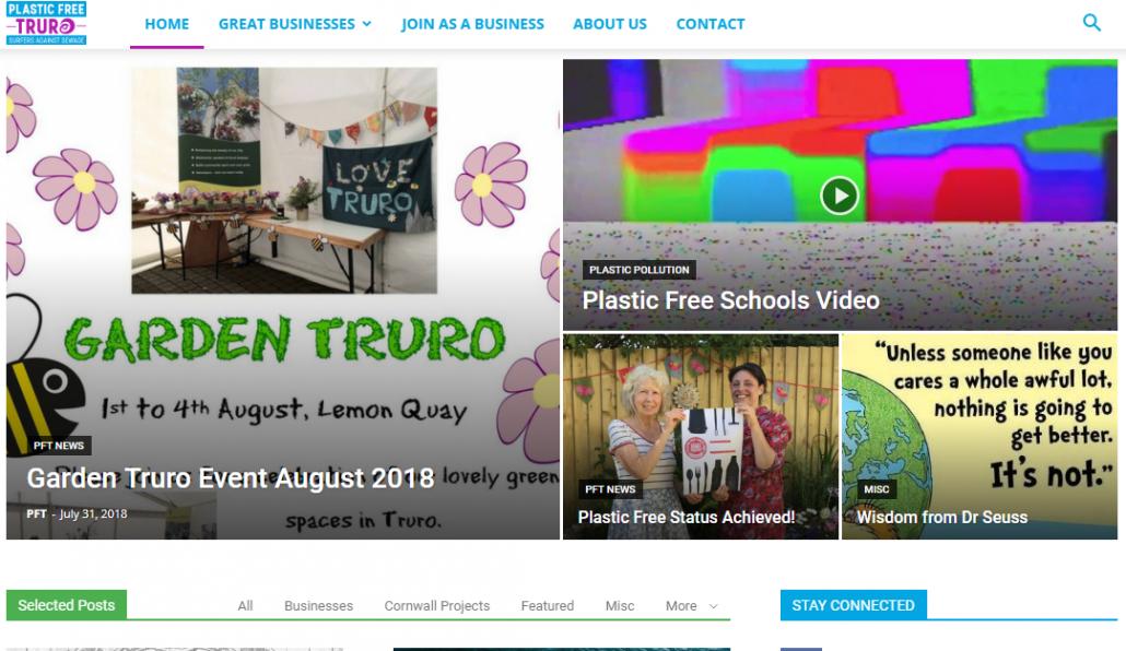 Plastic Free Truro website