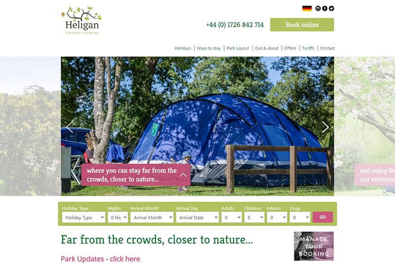Heligan Caravan and Camping Park Cornwall