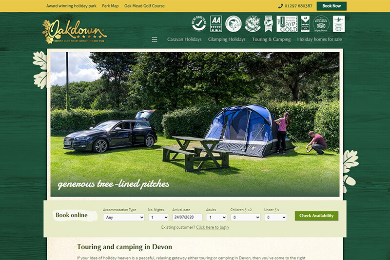 Oakdown Holiday Park Sidmouth